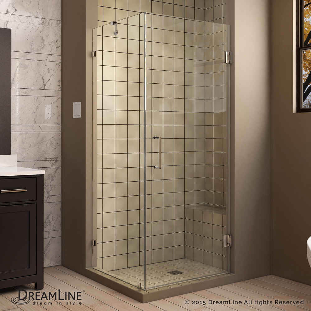 Bath Authority Dreamline Radiance Frameless Hinged Shower