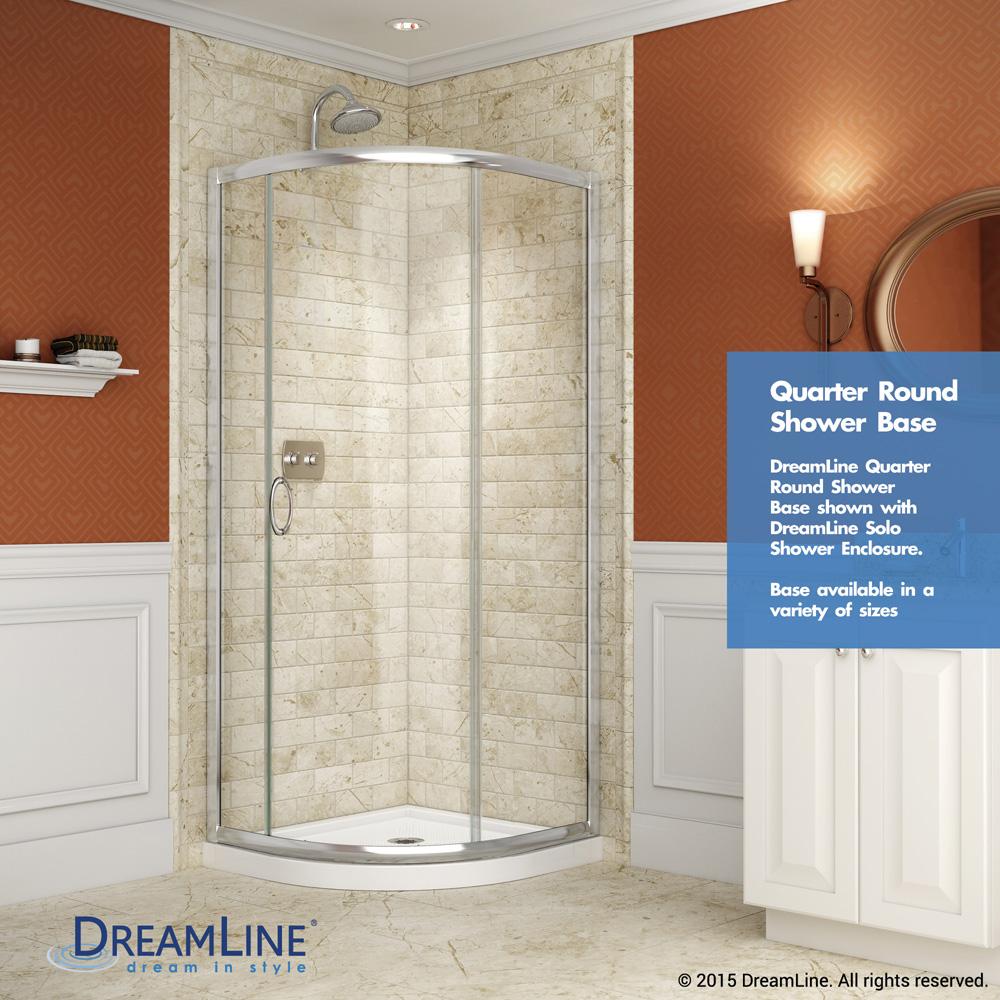 Bath Authority Dreamline Slimline Quarter Round Shower Base 38 By Black