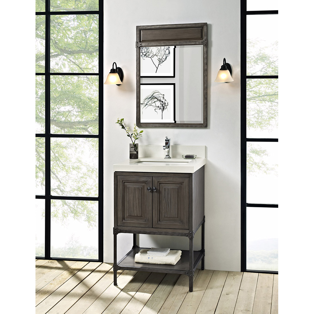 Fairmont Designs Toledo 24 Vanity With Doors For Quartz Top Driftwood Gray Free Shipping