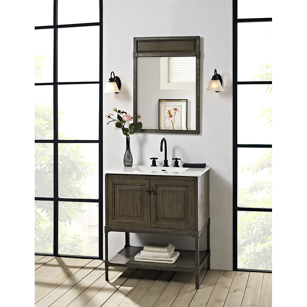 Fairmont Designs Toledo 30 Vanity With Doors For Integrated Top Driftwood Gray Free
