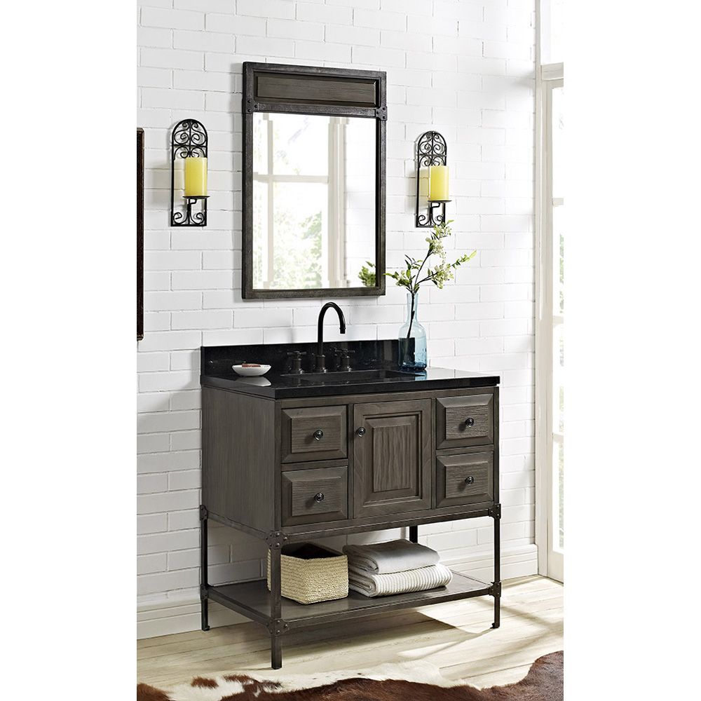 Fairmont Designs Toledo 36 Vanity With Doors Driftwood Gray Free Shipping Modern Bathroom