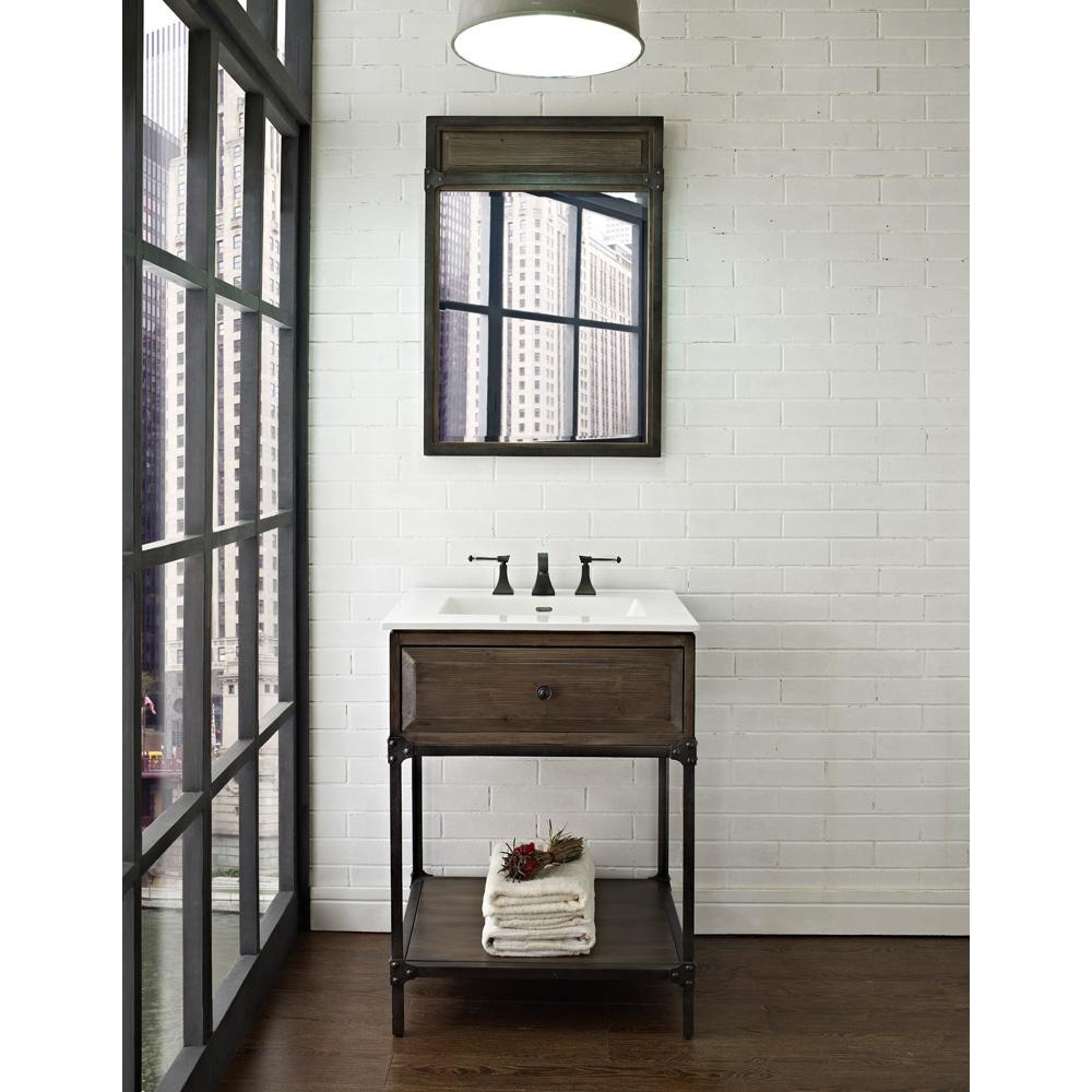 Fairmont Designs 24 Toledo Open Shelf Vanity Driftwood Gray Free Shipping Modern Bathroom