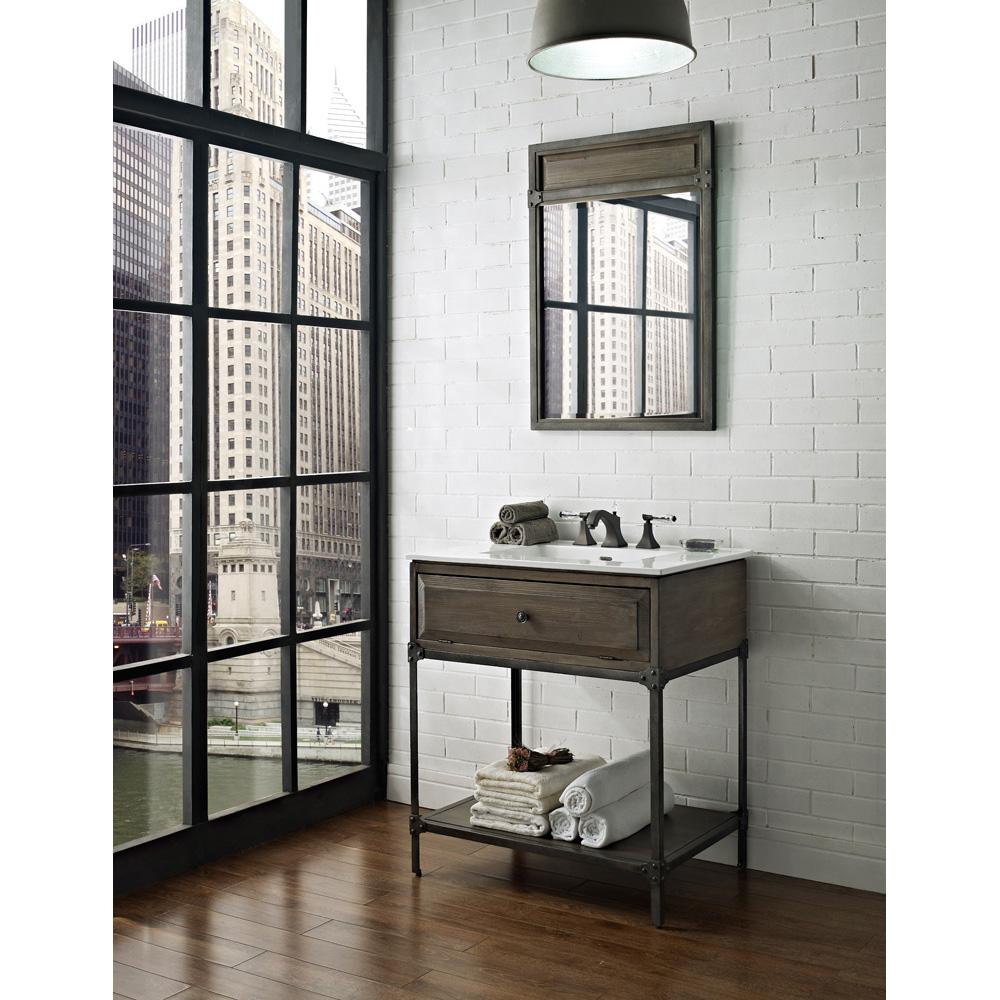 """Fairmont Designs 30"""" Toledo Open Shelf Vanity With"""