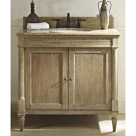 Fairmont designs rustic chic 36 vanity weathered oak - Rustic vanity cabinets for bathrooms ...