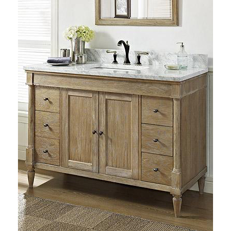 rustic chic bathroom vanity fairmont designs rustic chic 48 quot vanity weathered oak 20287