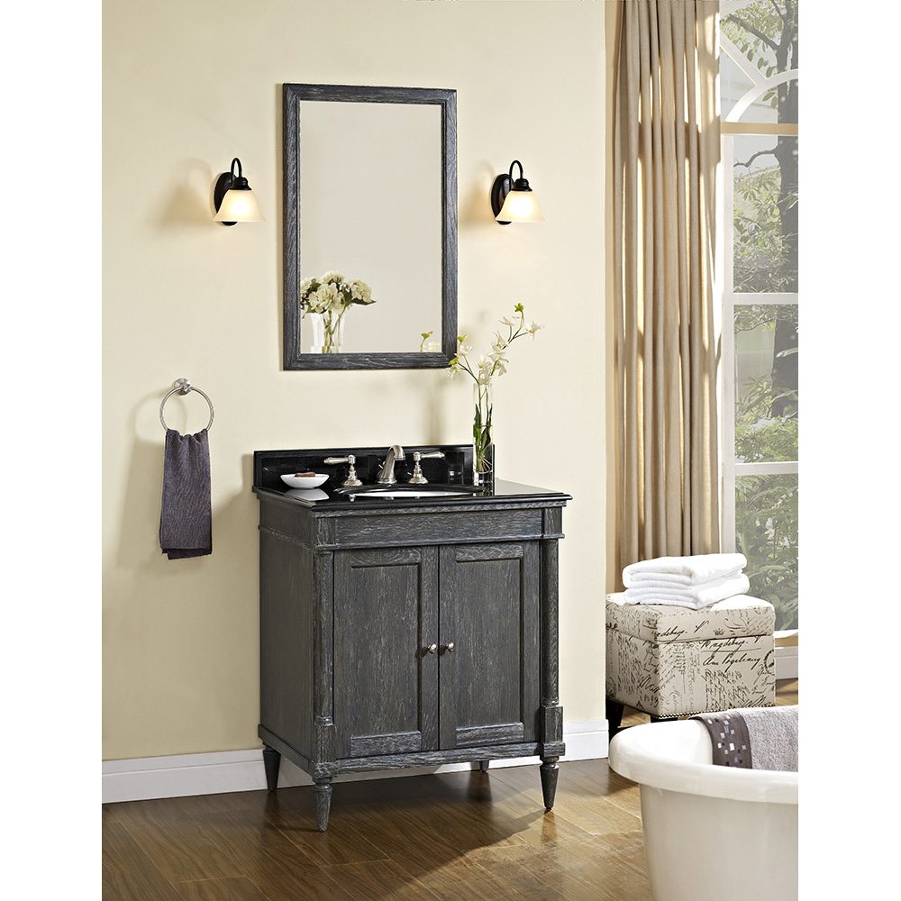 rustic modern bathroom vanities fairmont designs rustic chic 30 quot vanity silvered oak 20294