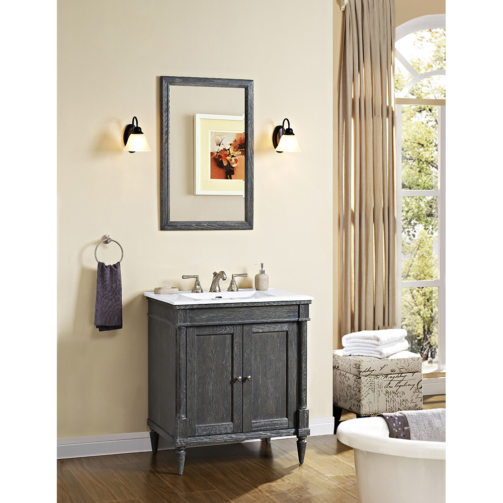 Fairmont designs rustic chic 30 vanity for integrated top silvered oak free shipping - Rustic chic bathroom ...