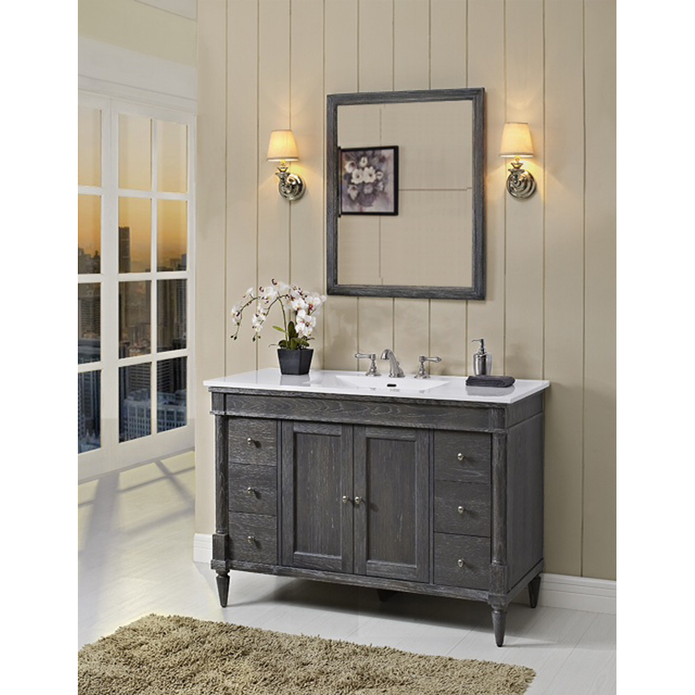 Fairmont Designs Rustic Chic 48 Quot Vanity For Integrated Top Silvered Oak Free Shipping