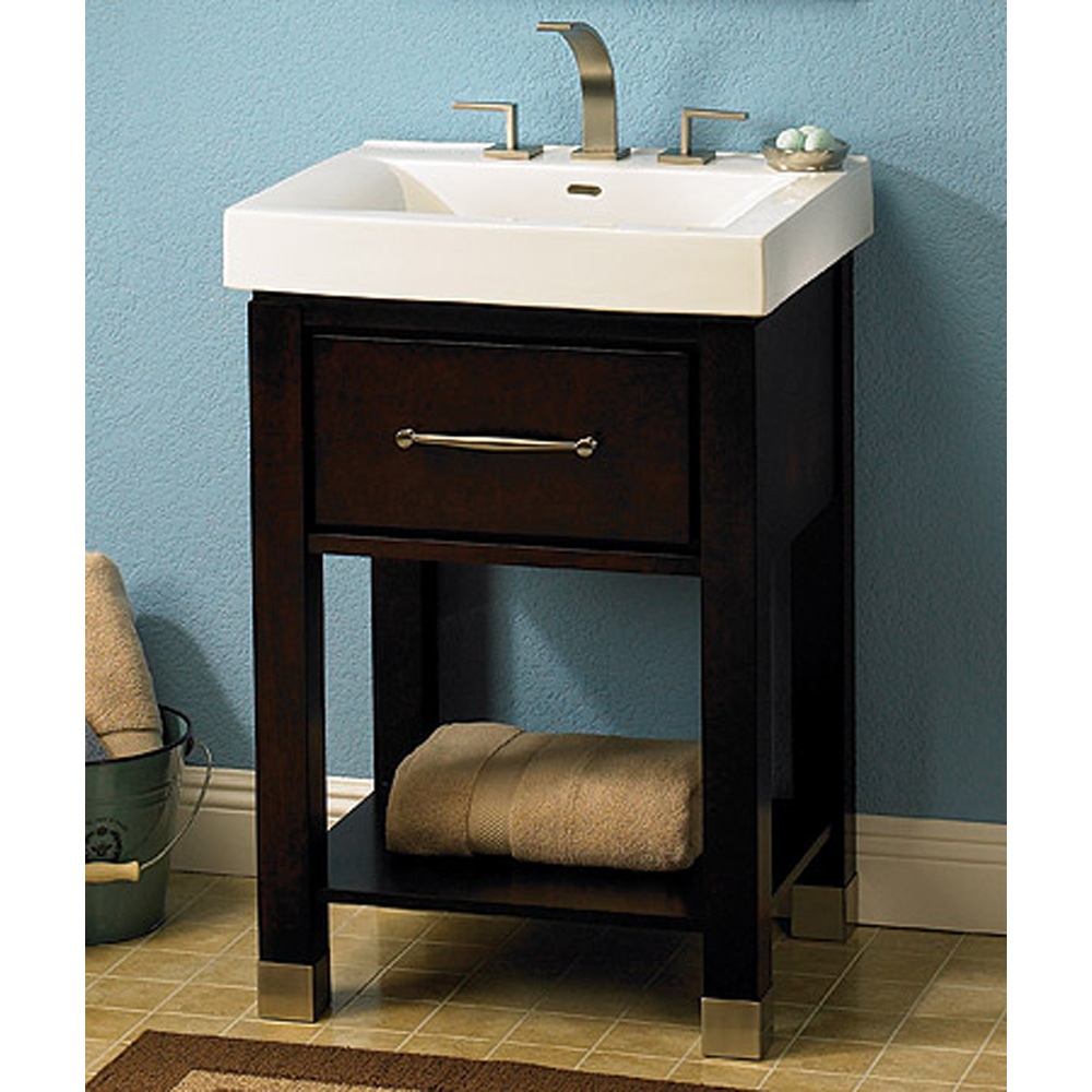 """Fairmont Designs Midtown 24"""" Open Shelf Vanity And Sink"""