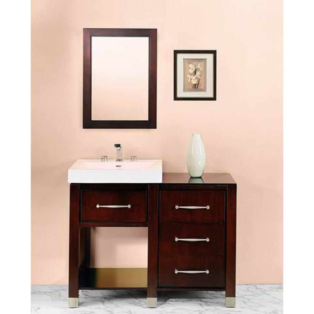 Fairmont designs midtown 44 modular open shelf vanity and sink set espresso free shipping for Modular bathroom vanity pieces