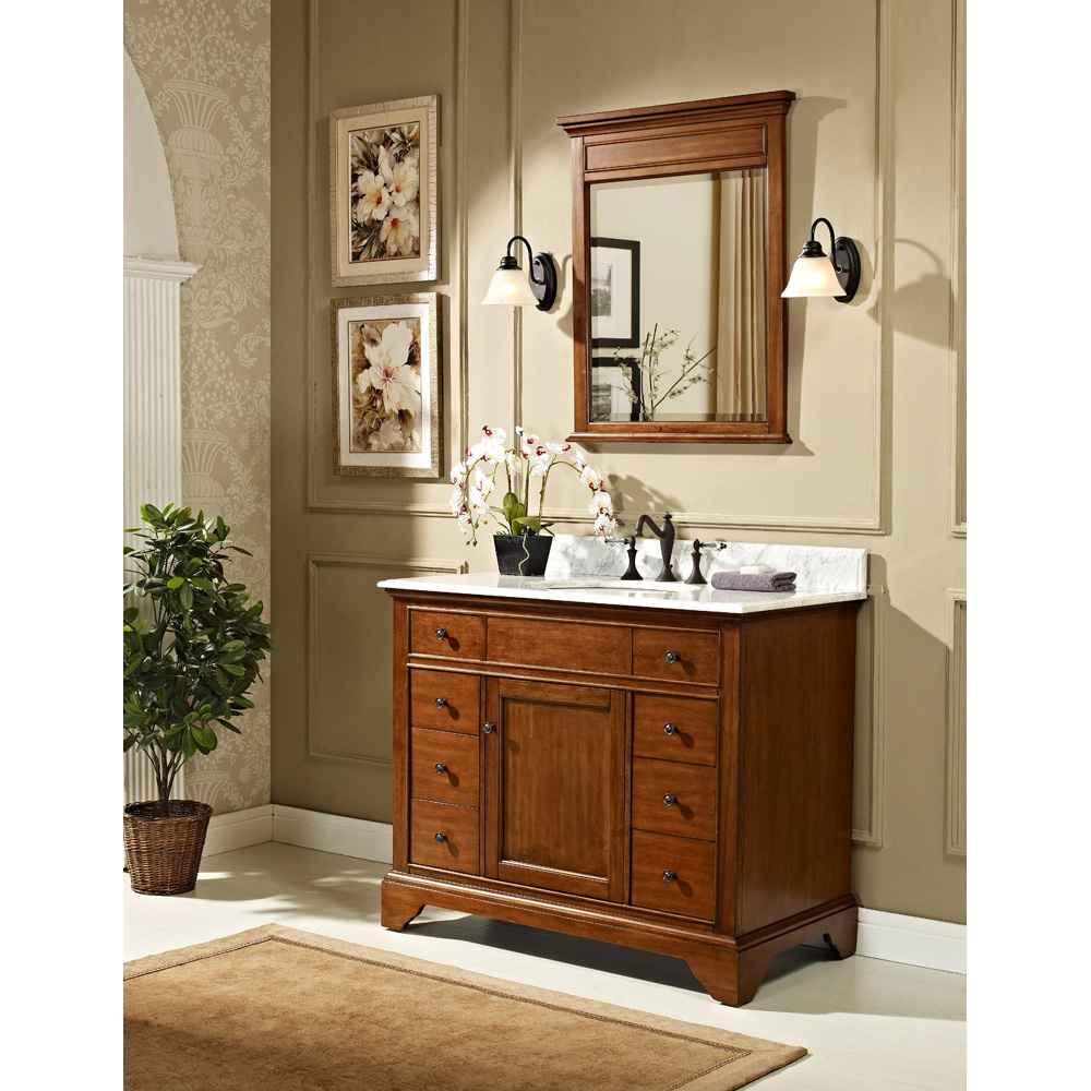 "Fairmont Designs Framingham 42"" Vanity - Vintage Maple ..."