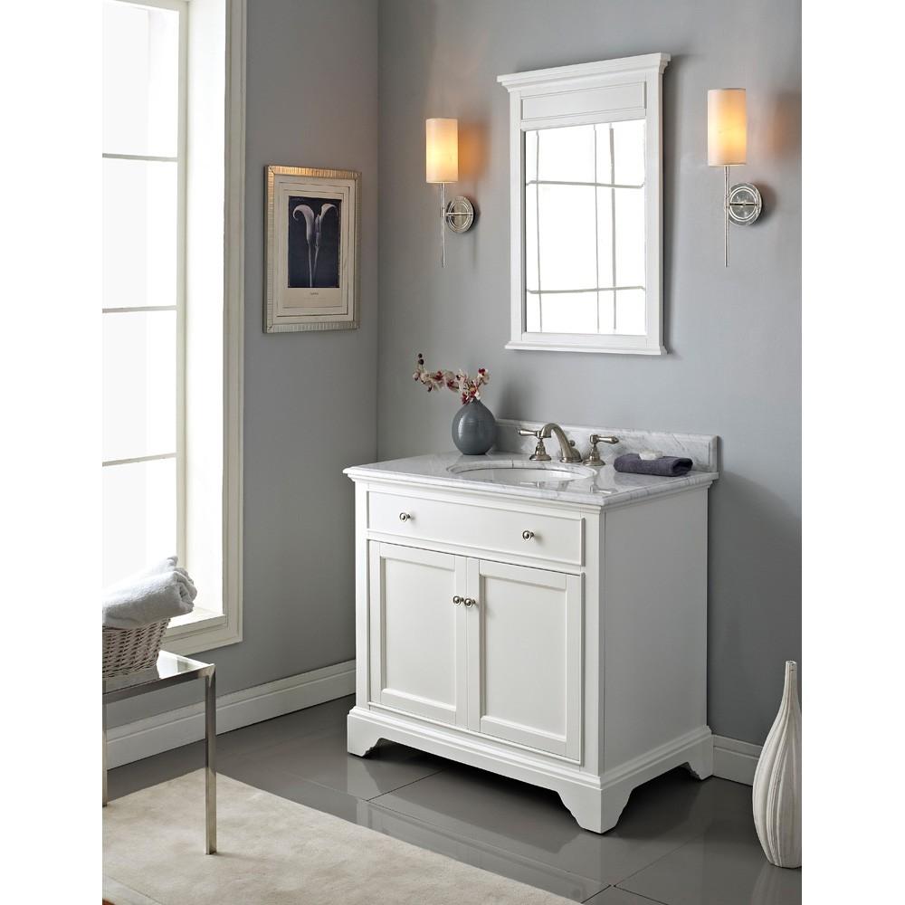 Fairmont Designs Framingham 36 Vanity Polar White Free Shipping Modern Bathroom