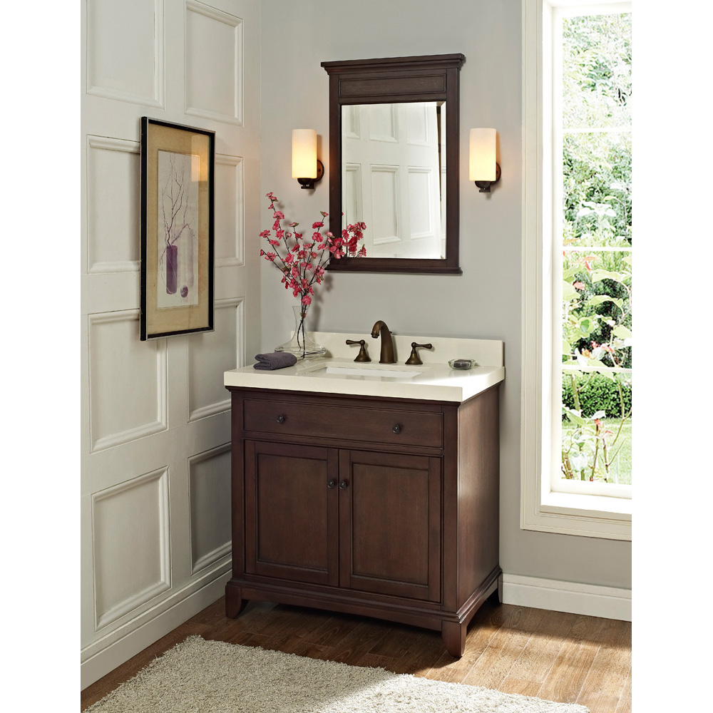 Fairmont Designs 36 Smithfield Vanity Mink Free Shipping Modern Bathroom