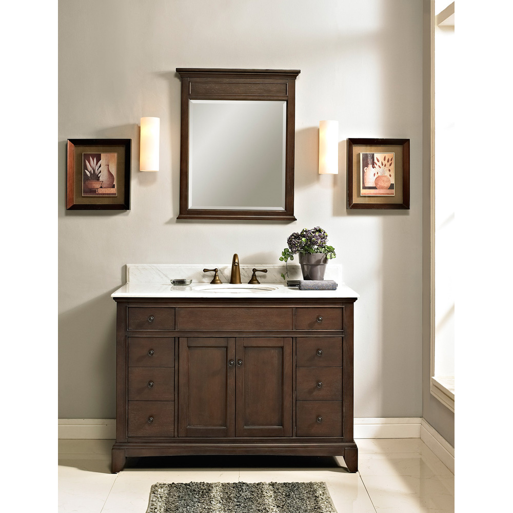 Fairmont Designs 48 Smithfield Vanity Mink Free Shipping Modern Bathroom