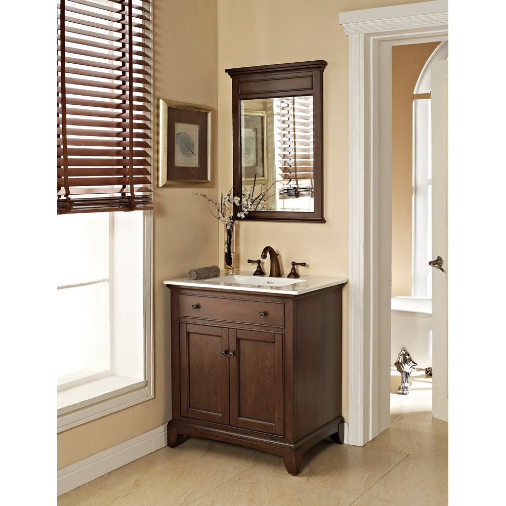 "Fairmont Designs 30"" Smithfield Vanity with Integrated Sink Option, Mink 1503-V30- by Fairmont Designs"