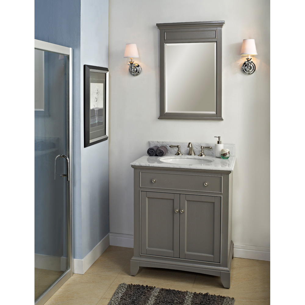 Fairmont designs 30 smithfield vanity medium gray for Bathroom vanity designs images