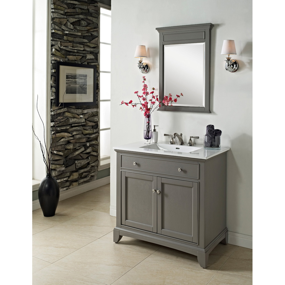 "Fairmont Designs 36"" Smithfield Vanity - Medium Gray ..."