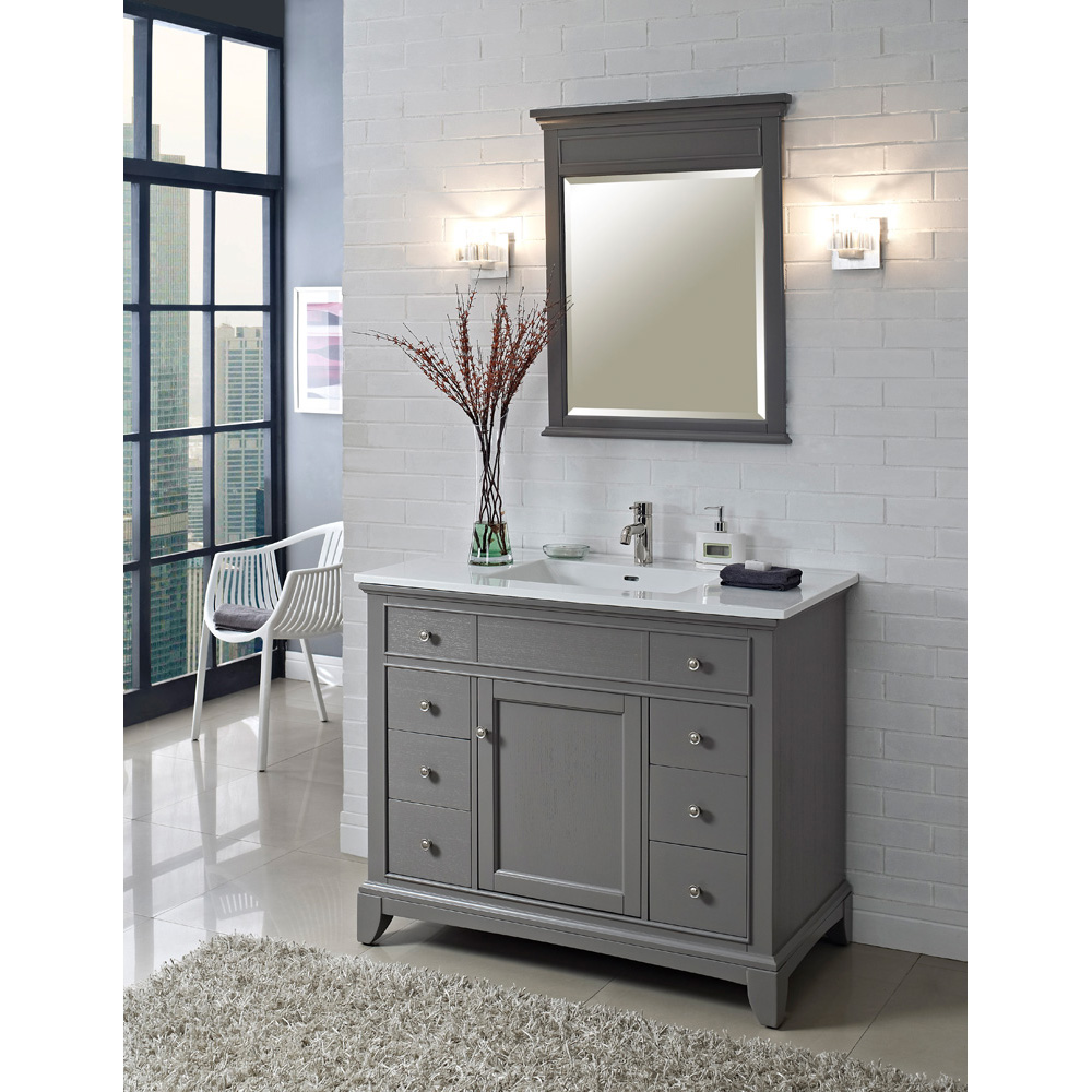 grey bathroom cabinets fairmont designs 42 quot smithfield vanity medium gray 16072