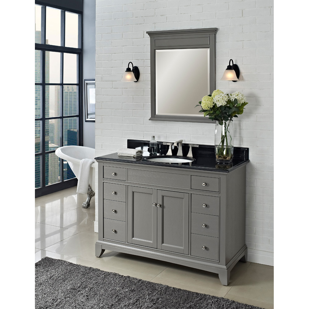 gray bathroom fairmont designs 48 quot smithfield vanity medium gray free shipping modern bathroom 5397