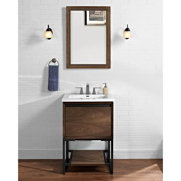"Fairmont Designs M4 24"" Vanity for Integrated Sinktop - Natural Walnut 1505-V24-"