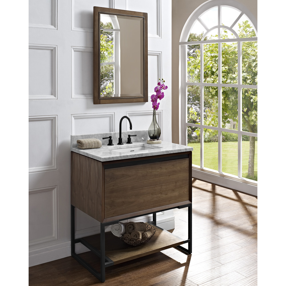 Fairmont Designs M4 36 Vanity Natural Walnut Free Shipping Modern Bathroom