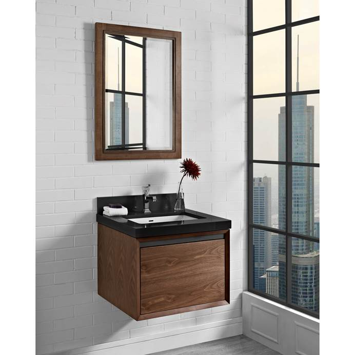 "Fairmont Designs M4 24"" Wall Mount Vanity - Natural Walnut 1505-WV24"
