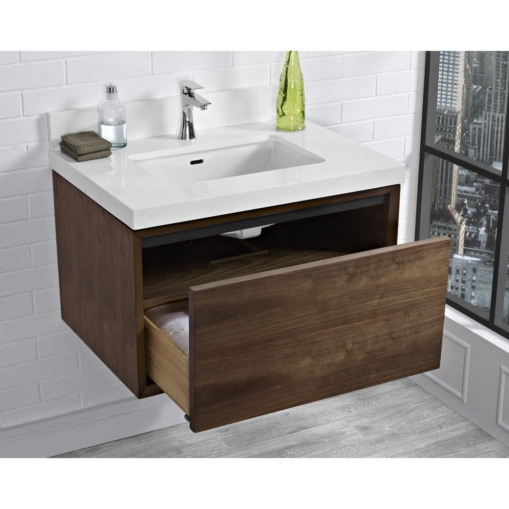 Fairmont Designs M4 30 Quot Wall Mount Vanity Natural Walnut