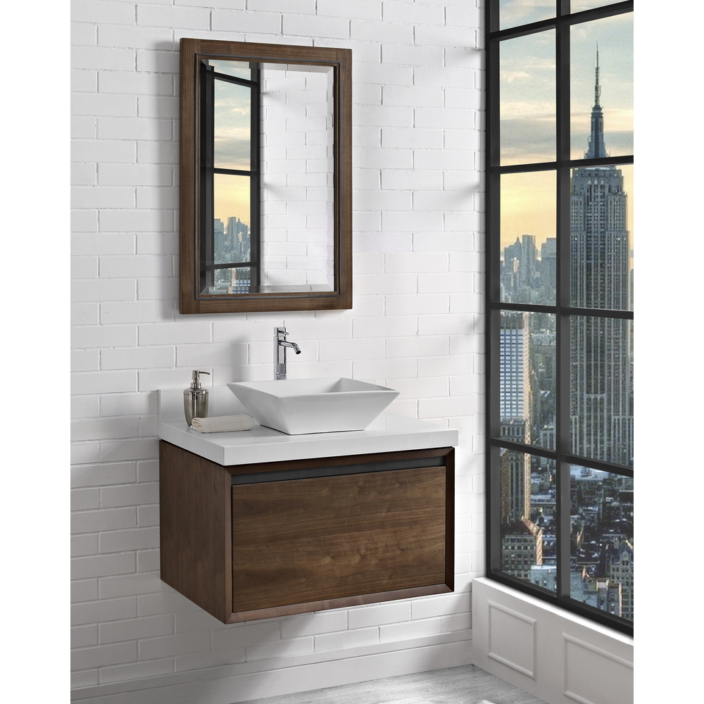 Fairmont Designs M4 30 Quot Wall Mount Vanity For Vessel Sink Natural Walnut Free Shipping