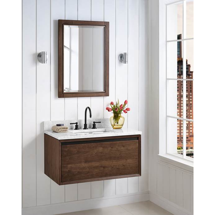 "Fairmont Designs M4 36"" Wall Mount Vanity - Natural Walnut 1505-WV36"
