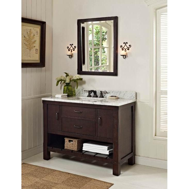 """Fairmont Designs 48"""" Napa Open Shelf Vanity - Aged Cabernet"""