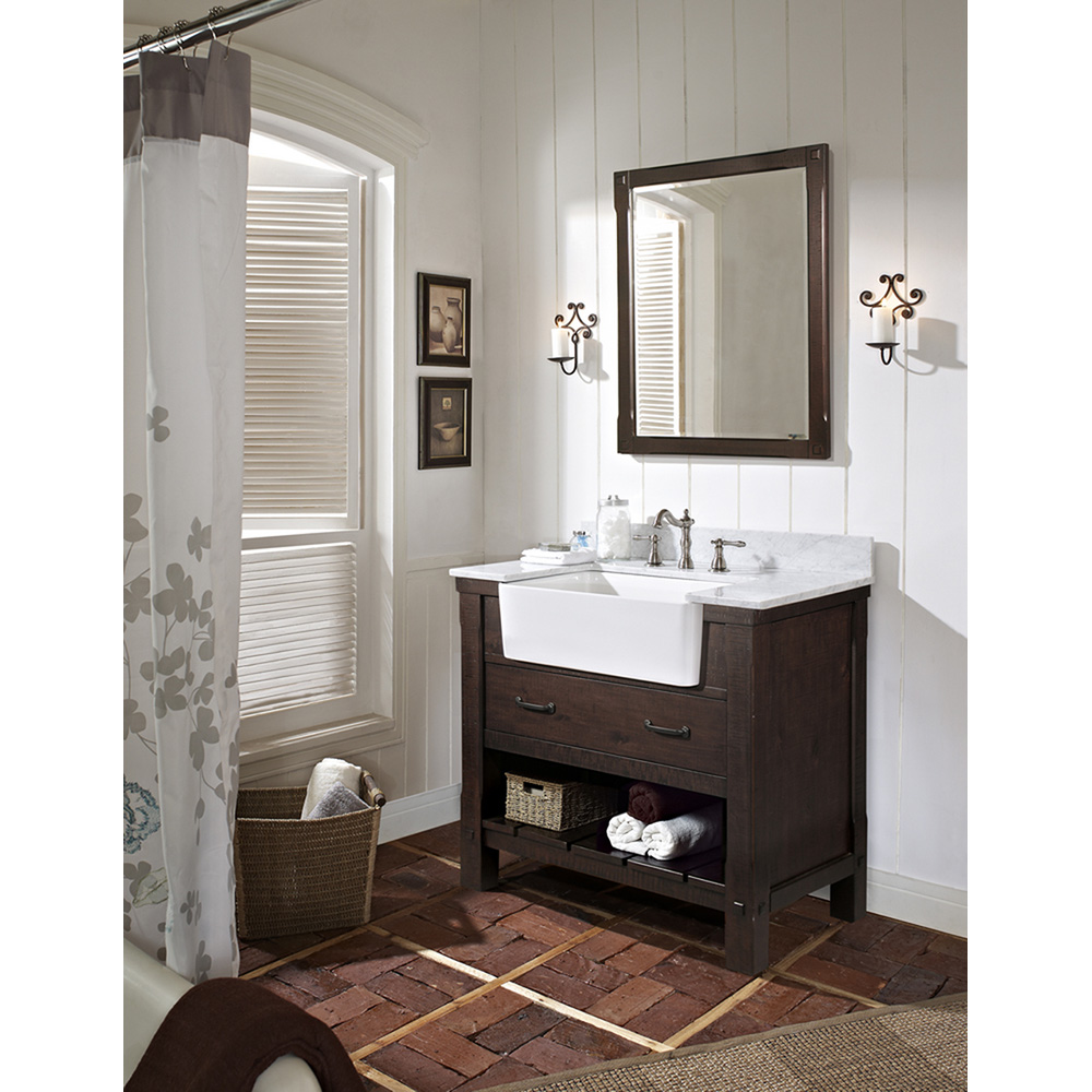 "Fairmont Designs 36"" Napa Farmhouse Vanity - Aged Cabernet ..."