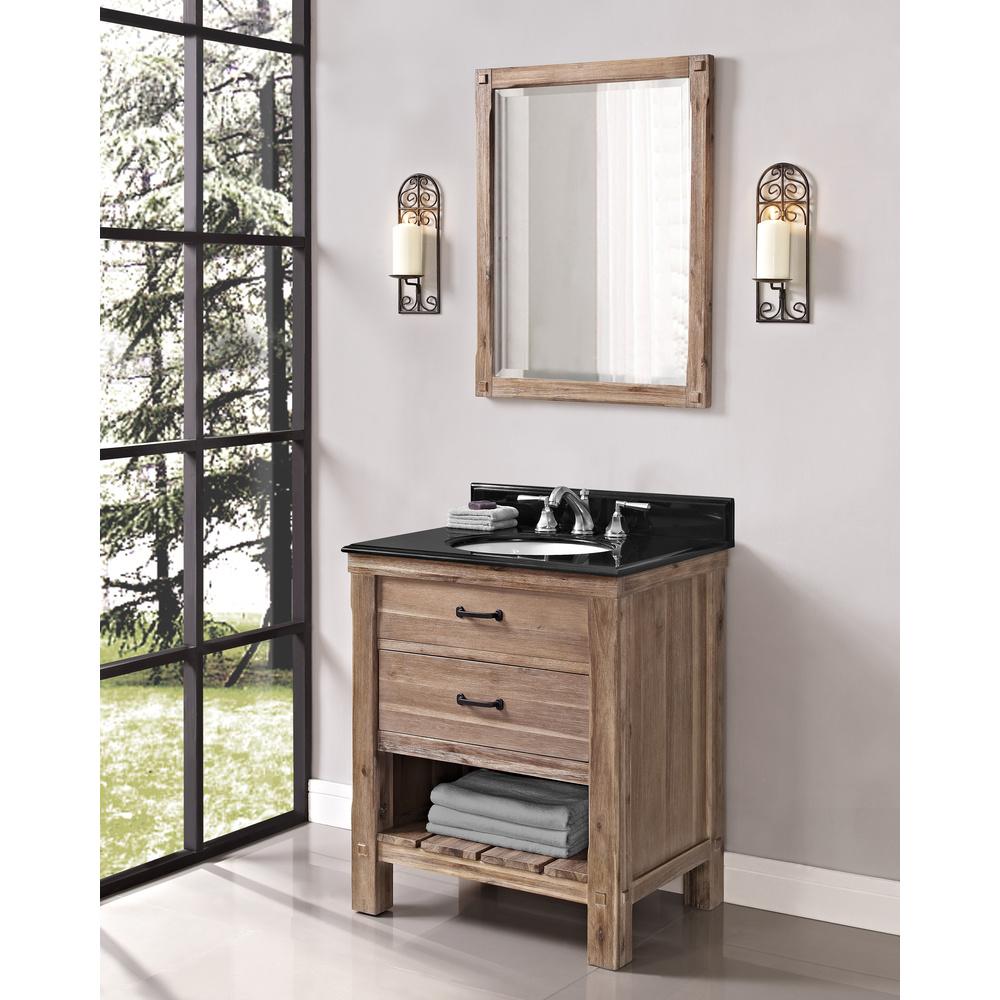 Fairmont Designs Napa 30 Open Shelf Vanity For Undermount Oval Sink Sonoma Sand Free
