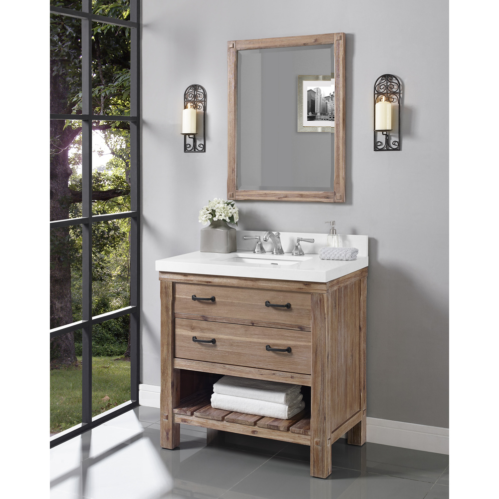 Fairmont Designs Napa 36 Open Shelf Vanity Sonoma Sand Free Shipping Modern Bathroom