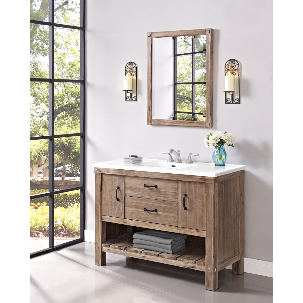 Fairmont Designs Napa 48 Quot Open Shelf Vanity For Integrated Sinktop Sonoma Sand Free Shipping