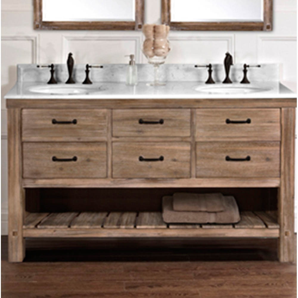 Fairmont Designs Napa 60 Double Bowl Open Shelf Vanity Sonoma Sand Free Shipping Modern