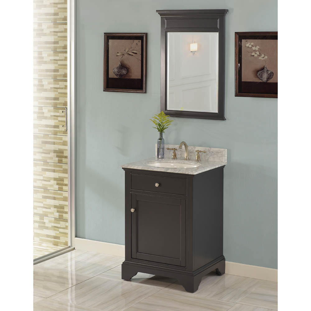 Fairmont designs framingham 24 vanity obsidian free shipping modern bathroom Modern bathroom north hollywood