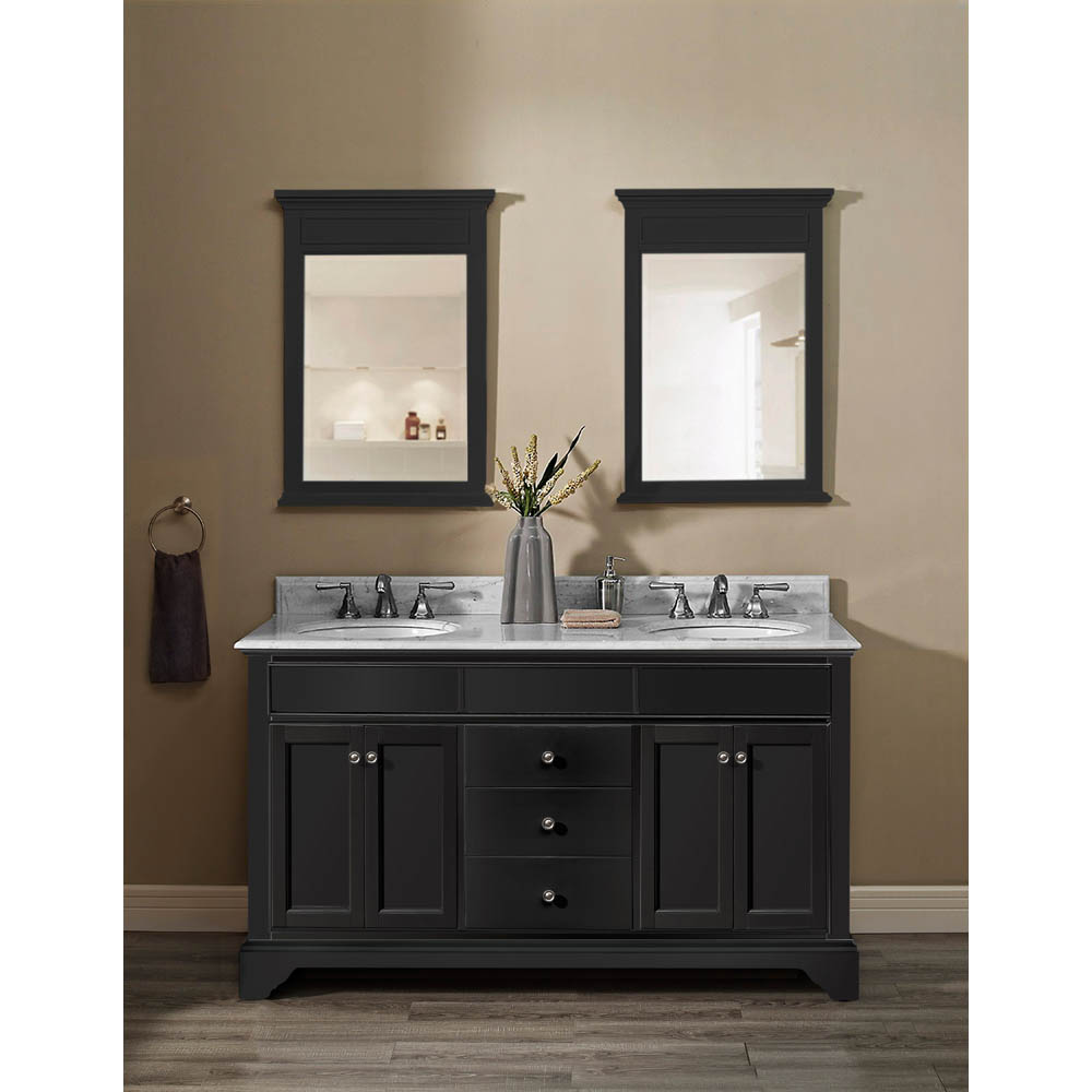 Fairmont Designs Framingham 60 Quot Double Bowl Vanity Obsidian Free Shipping Modern Bathroom