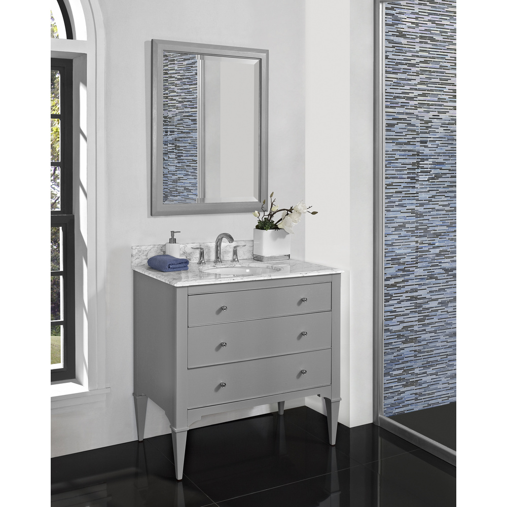 Fairmont Designs Charlottesville 36 Quot Vanity For Undermount Oval Sink Light Gray Free