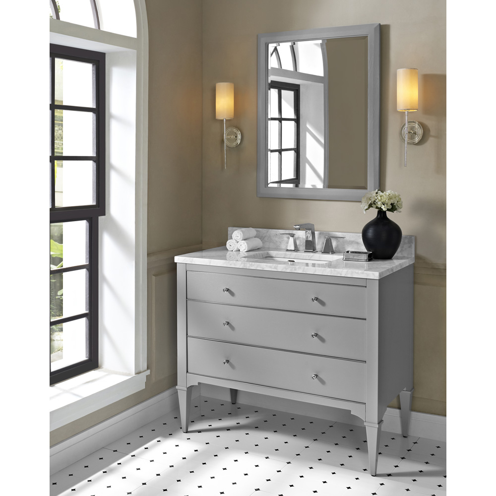 42 bathroom vanity cabinet fairmont designs charlottesville 42 quot vanity light gray 10257