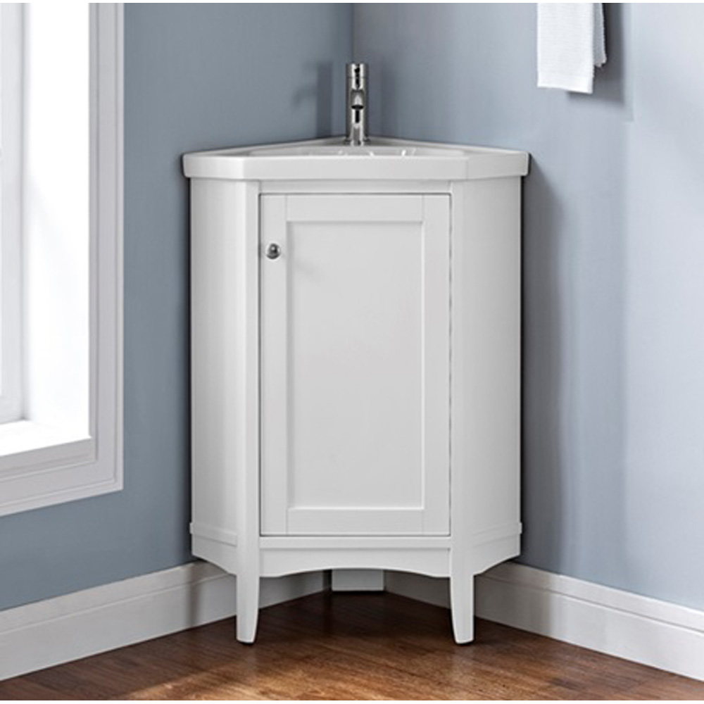 Fairmont designs shaker americana 26 corner vanity polar white free shipping modern bathroom Design bathroom vanity cabinets