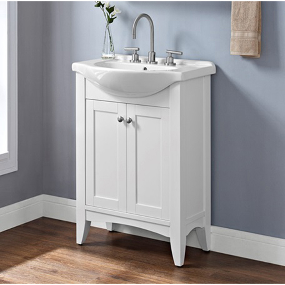 Fairmont designs shaker americana 26 euro vanity with for Bathroom designs vanities
