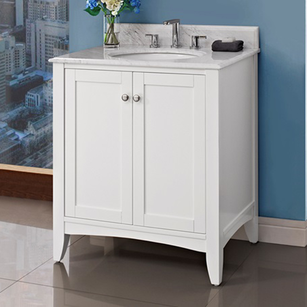 Fairmont Designs Shaker Americana 30 Vanity Polar White Free Shipping Modern Bathroom