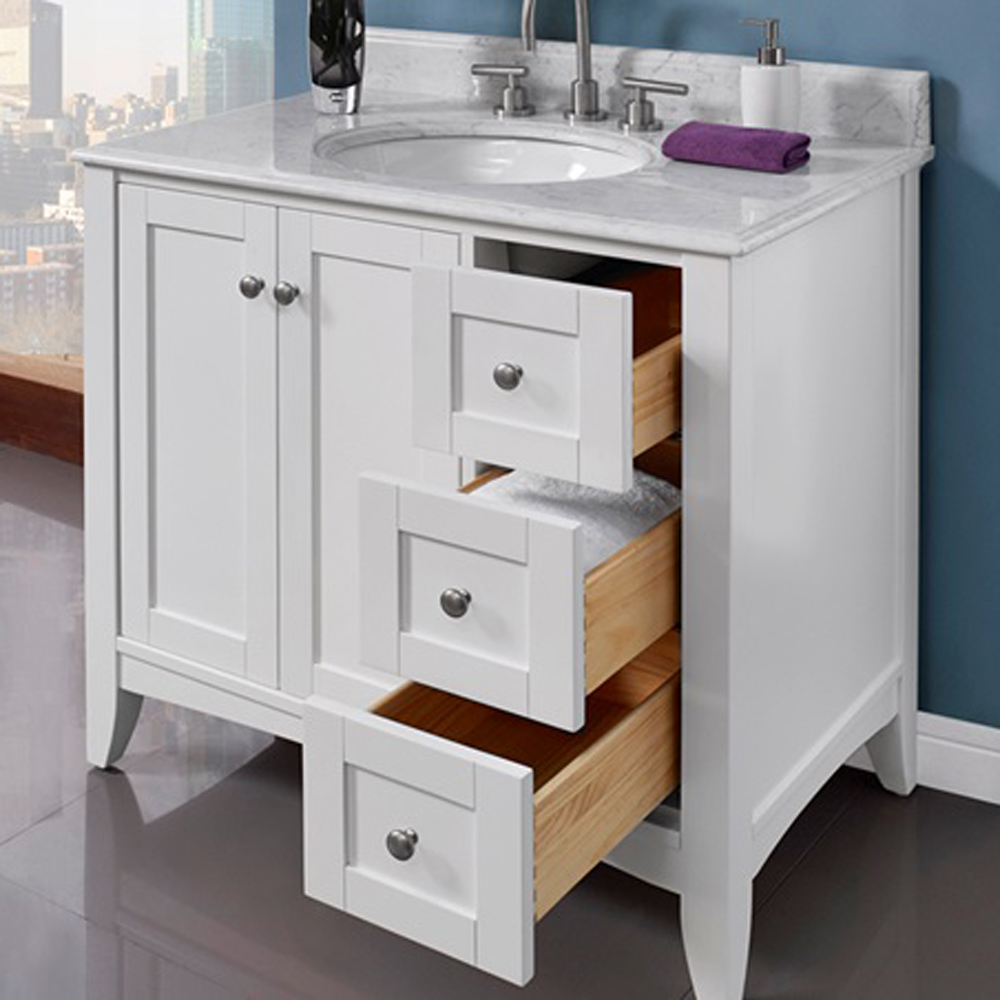 Fairmont Designs Shaker Americana 36 Quot Vanity Drawer Right