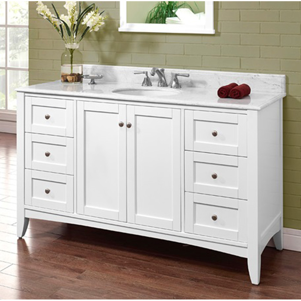 fairmont designs shaker americana 60 quot  single bowl vanity