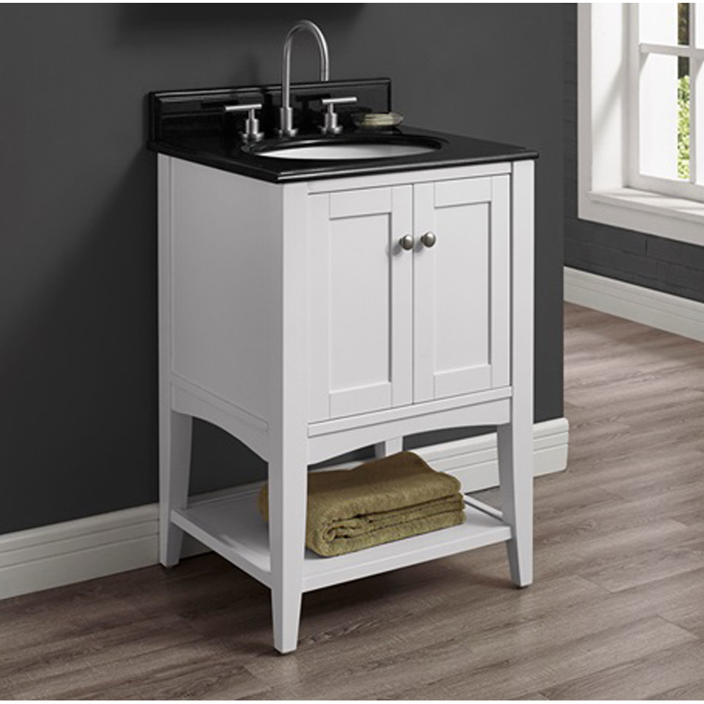 Fairmont Designs Shaker Americana 24 Vanity Open Shelf Polar White Free Shipping Modern