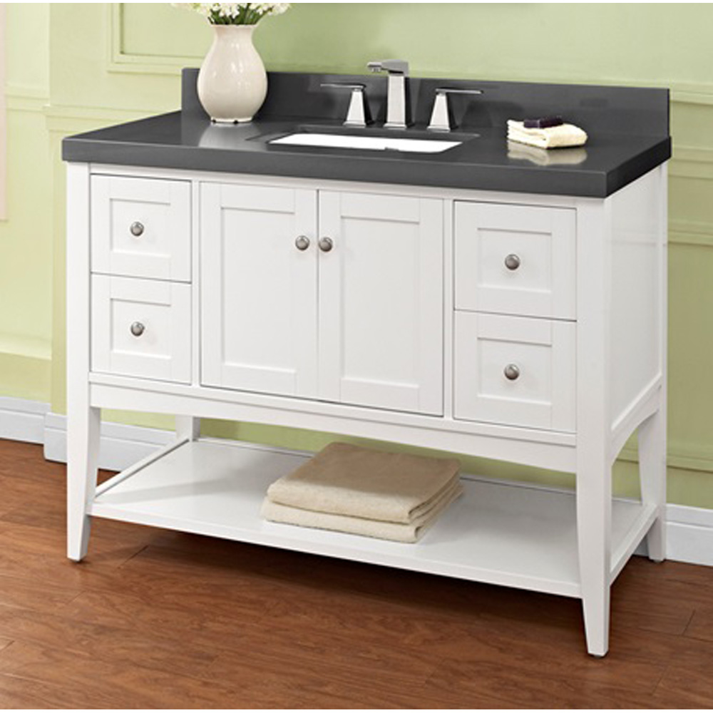 design bathroom vanity fairmont designs shaker americana 48 quot vanity open shelf 11373