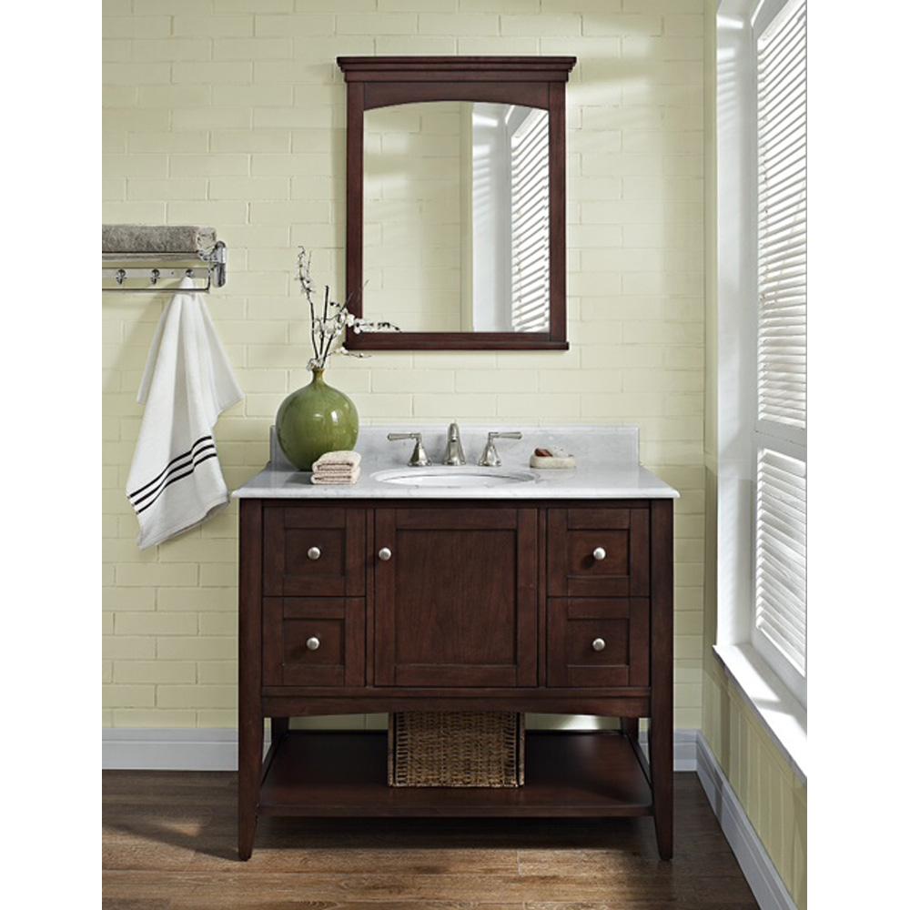 Fairmont Designs Shaker Americana 42 Quot Vanity Open Shelf Habana Cherry Free Shipping