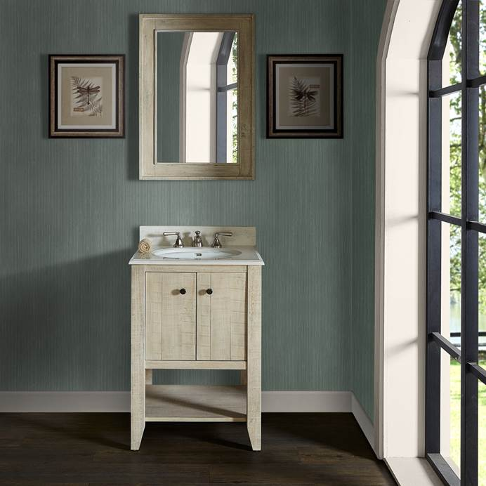 "Fairmont Designs River View 24"" Open Shelf Vanity for Undermount Oval Top - Toasted Almond 1515-VH24_"