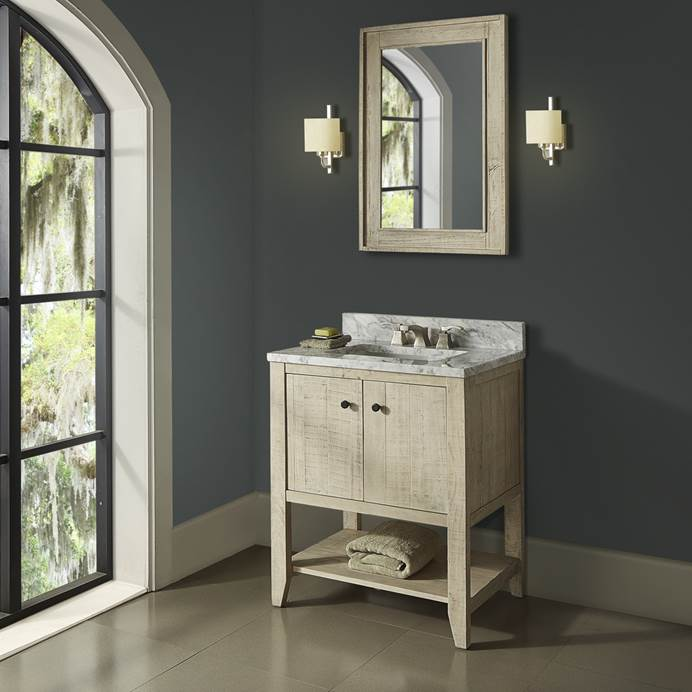 "Fairmont Designs River View 30"" Open Shelf Vanity - Toasted Almond 1515-VH30"