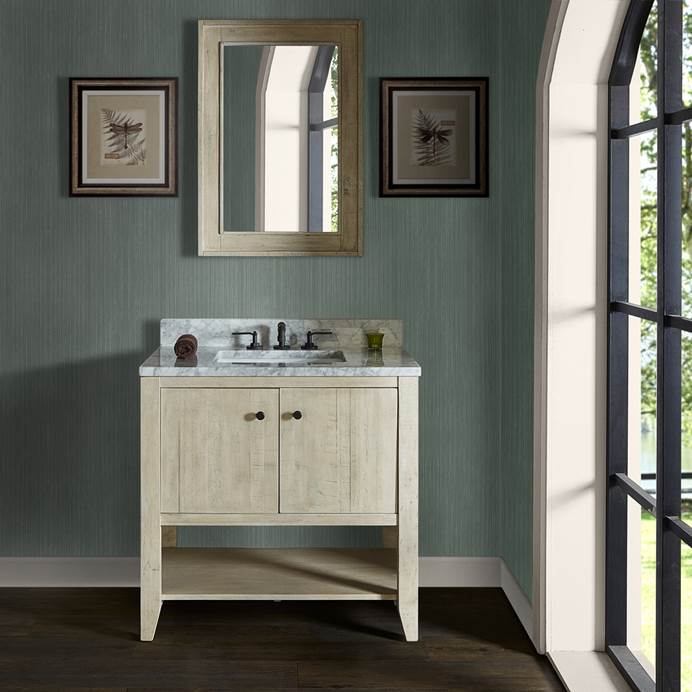 "Fairmont Designs River View 36"" Open Shelf Vanity - Toasted Almond 1515-VH36"